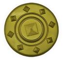 Morris Costumes 95-601 Shield Roman Gold