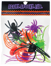 Morris Costumes AL-HN2098 Spiders Plastic Asst Size 12Pc