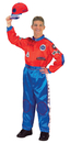 Aeromax Costumes AR-34 Racing Suit Adult Red Blue