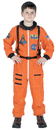 Aeromax Costumes AR-52SM Astronaut Suit Orange 4 To 6