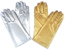 Morris Costumes BA-07SVSM Gloves Silver Adult Small