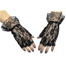 Morris Costumes BA-14 Gloves Black Fingerless 1 Sz