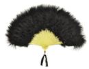 Morris Costumes BB-132BK Fan Marabou Feather Black