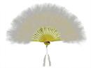 Morris Costumes BB-132WT Fan Marabou Feather White