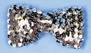 Morris Costumes BB-133SV Bow Tie Sequin Silver