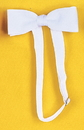 Morris Costumes BB-170WT Bow Tie Satin Band White