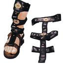 Morris Costumes BB-20 Spats Roman Sandal