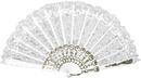 Morris Costumes BB-26WT Fan White Lace