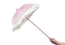 Morris Costumes BB-32PK Parasol Lace Ruffle Pink