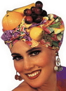 Morris Costumes BB-33 Latin Lady Fruit Headpiece