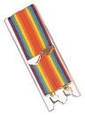 Morris Costumes BB-36 Suspenders Rainbow
