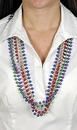 Morris Costumes BB-494 Beads 33In 7 1/2 Mm Ast 12 Eq1