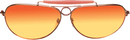 Morris Costumes BB-510 Glasses Aviators Gold Sunset