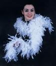 Morris Costumes BB-66BK Boa Blk Chand W Silver Lurex