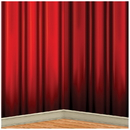 Beistle Co BG-54397 Red Curtain Backdrp 4Ft X 30Ft