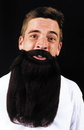 Morris Costumes CB-45GY Mustache Beard Grey 14In
