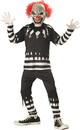 California Costumes CC-00299MD Creepy Clown Child Med 8-10