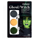 Morris Costumes DD-154 Tri Color Palette Ghoul Witch