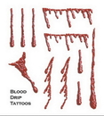 Morris Costumes DF-206 Tattoo Blood Drip Fx