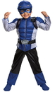 Morris Costumes DG-13185L Blue Rangr Beast Tod Musc Ch 4