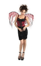 Disguise DG-14531 Wings Red Lace Black Corset