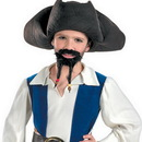 Disguise DG-18639 Pirate Hat Must Goatee Chld