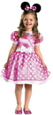 Disguise DG-18921L Pink Minnie Mouse Classic 4-6