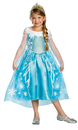 Disguise DG-56998G Frozen Elsa Child Deluxe 10-12