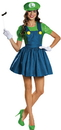 Disguise DG-85182N Luigi Skirt Adult 4-6