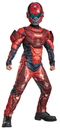 Morris Costumes DG-97542L Red Spartan Muscle Child 4-6