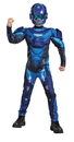 Morris Costumes DG-97546L Blue Spartan Muscle Child 4-6