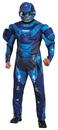 Morris Costumes DG-97561D Blue Spartan Muscl Adult 42-46