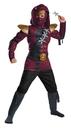 Morris Costumes DG-97859L Red Fire Ninja Muscle Chld 4-6