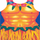 Funny Fashion FF-284329 Hula Man Apron