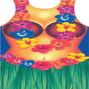 Funny Fashion FF-284330 Hula Woman Apron