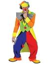 Funny Fashion FF-60631 Spanky Stripes Adult Clown Std