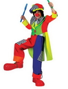 Funny Fashion FF-60638 Spanky Stripes Clown Ch Md