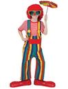 Funny Fashion FF-60679 Striped Clown Overalls Ch Lg