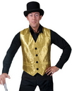 Funny Fashion FF-781853 Gold Vest Adult Small