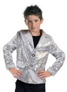 Funny Fashion FF-782718 Disco Jacket Silver Child Med