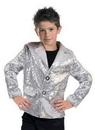 Funny Fashion FF-782719 Disco Jacket Silver Child Larg