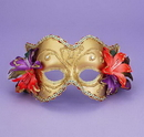 Forum Novelties FM-56275 Ven Mask Gd/Gd W/Flowers