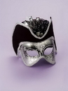 Forum Novelties FM-57589 Silver Venetian Mask