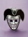 Forum Novelties FM-57590 Venetian Mask Silver & Black