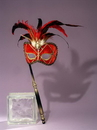 Forum Novelties FM-57597 Venetian Mask Red
