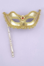 Forum Novelties FM-60129 Ven Mask Stick Gold