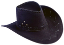 Morris Costumes FM-61221 Hat Cowboy Flocked Black Adult