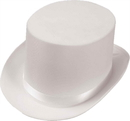 Forum Novelties FM-63834 Top Hat Satin Adult White