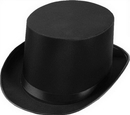 Forum Novelties FM-63835 Top Hat Satin Adult Black