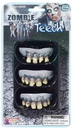Forum Novelties FM-66485 Zombie Rotted Teeth-3 Pack